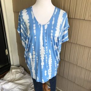 NWT Enti Clothing Blue tiedye shirt, tapered sides